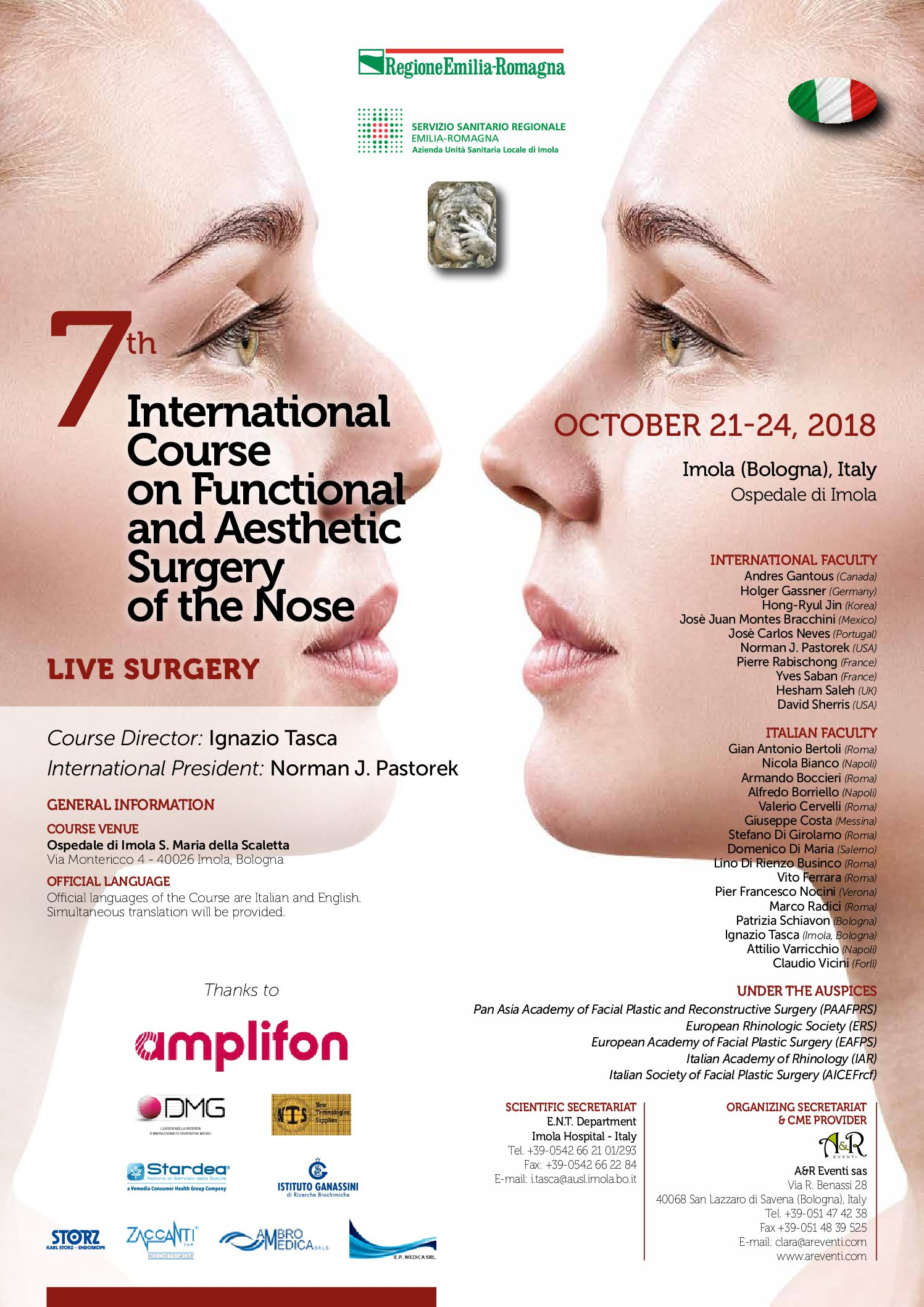 7th International Course on Fucntional and Esthetic Surgery of the Nose - Live Surgery